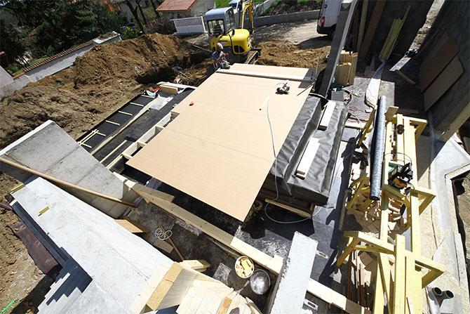Contreventement des murs ossature en panneaux RWH 16mm par l'extérieur